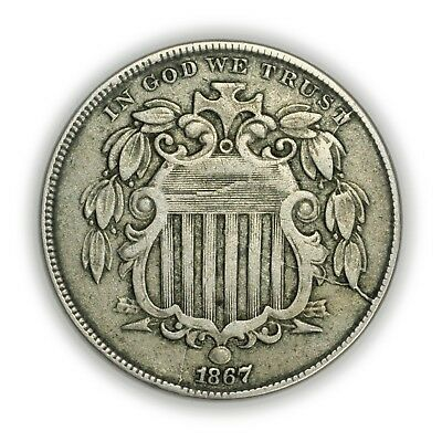 1867 Shield Nickel, Small Coin, Early Type Coinage [3658.02]