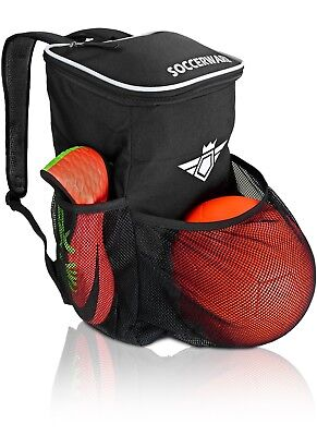 Soccer Backpack With Ball Holder Compartment Kids Bag For Boys S