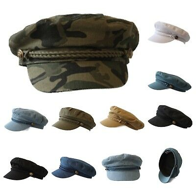 Mens Sailor Captain Fisherman Cap Fashion Yacht Boat Costume Fiddler Unisex Hats