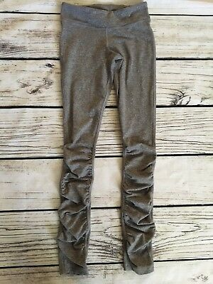 Ivivva Lululemon Gray Ruched Bottom Leggings size 10 EUC