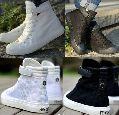 New Womens Girls Hi Tops Canvas Trainers Dance Boots Mesh Sports Sneakers Shoes
