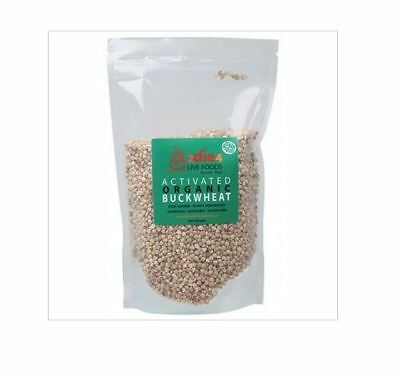 8 x 500g 2DIE4 LIVE FOODS Activated Organic Buckwheat ( 4kg )