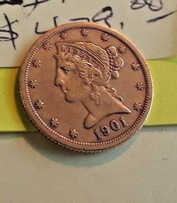 1901-S $5 Liberty head Gold US Coin Five Dollar Gold Coin, Money, Gold  #Dons3