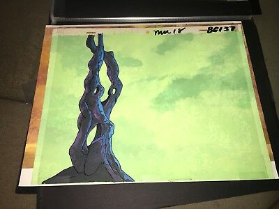 Masters of the Universe Animation Hand Painted Background Cel Art He-man Motu