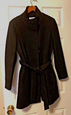 NWT Old Navy MATERNITY Belted Coat Jacket, Black SIZE Sm