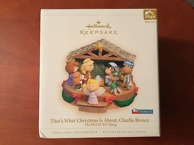 Hallmark Snoooy Ornament 2006 That's What Christmas is About Charlie Brown