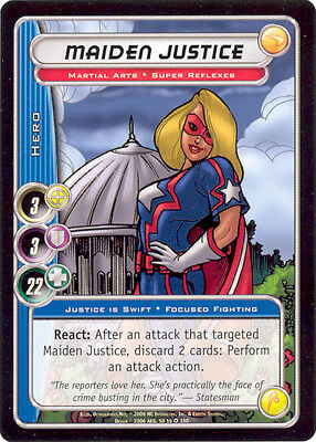City of Heroes CCG 70-Card Tourney Deck (Maiden Justice)
