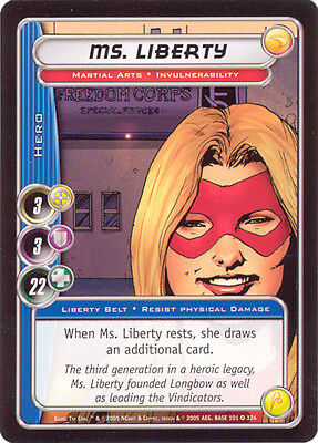 City of Heroes CCG 70-Card Tourney Deck (Ms. Liberty)