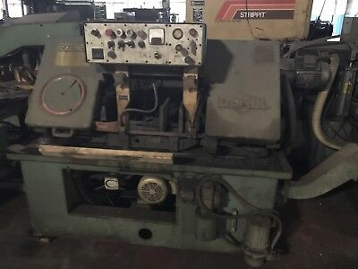 Used Do-all C-80 Automatic Bandsaw with Auto Feed Unit Light Industrial Shop Saw