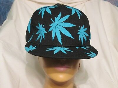 afef9b006b9 Marijuana Hat Snapback Weed Leaf Baseball Cap Cannabis 420 Headwear  Adjustable