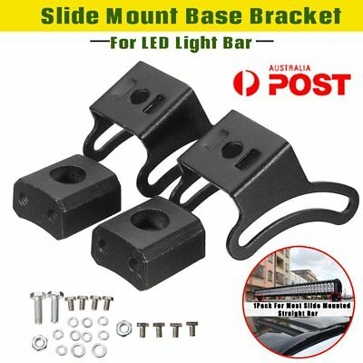 2 Set LED Slide Mount Base Bracket Holder For Most Mounted Straight Light Bar FK