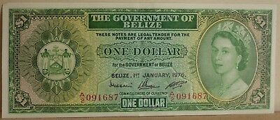 1976 GOVERNMENT of BELIZE 1 ONE DOLLAR