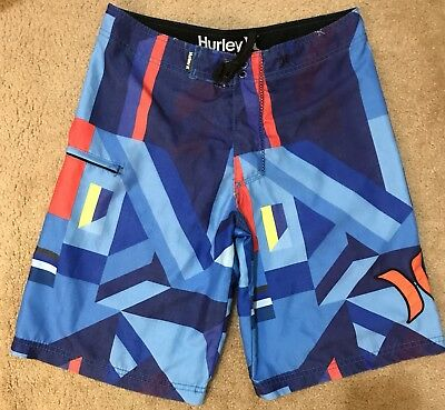 d115152a74 EUC, Hurley Boys Blue Abstract Print Board Shorts, Swim Trunks Size 20