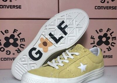 c6dcbfe446b CONVERSE ONE STAR X GOLF WANG LE FLEUR SUEDE Yellow Sulphur Tyler The  Creator