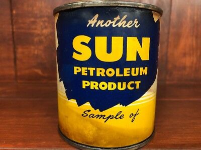 Another Sun Petroleum Product Sample Oil Can Gas Station Advertising Sun oil Co