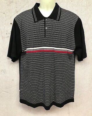 Vintage GULAN DANNI SHORT SLEEVE KNITTED POLO SHIRT MOD ROCKABILLY 60's BLACK