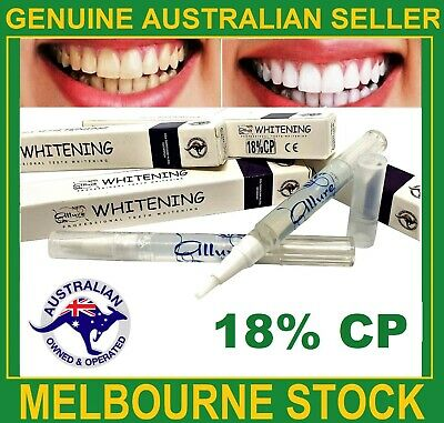 Teeth Whitening 18%CP Gel Pen Australian Brand Strongest Legal Formula Home Use