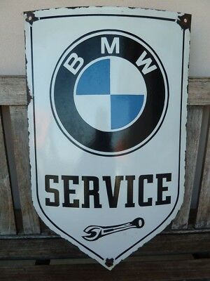 "old BMW  porcelain sign, 24"" heavy convex collectible rar bavarian motor company"