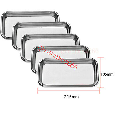 5pcs NEW Re-usable Dental stainless steel surgical Medical Tray plate for doctor