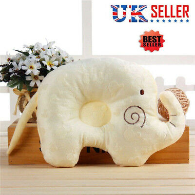 Cute Baby Infant Newborn Memory Foam Pillow Prevent Flat Head Anti Roll Support