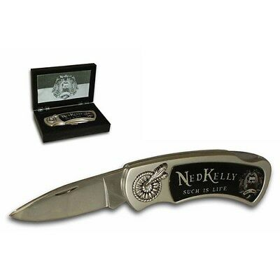 Ned Kelly Collectable Pocket Knife - Brand New - SUCH IS LIFE
