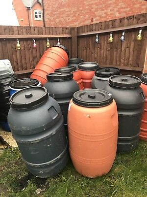 Plastic barrel 220l, shipping,storrage,water butts,gardening,allotments