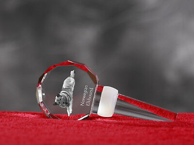 Norwegian Elkhound, Crystal Wine Stopper with Dog, Wine and Dog Lovers,UK