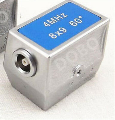 NEW 60º 4MHZ 8x9mm Sensor Probe Transducer for Ultrasonic Flaw Detector,C5 port
