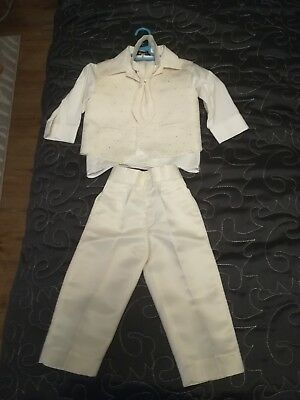 Baby Boy Christening/Baptism outfit 4 piece