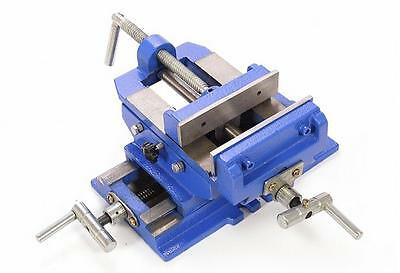 "5"" 125MM Metal Cross Drill Slide Heavy Duty Press Vice Bench Clamp Machine"