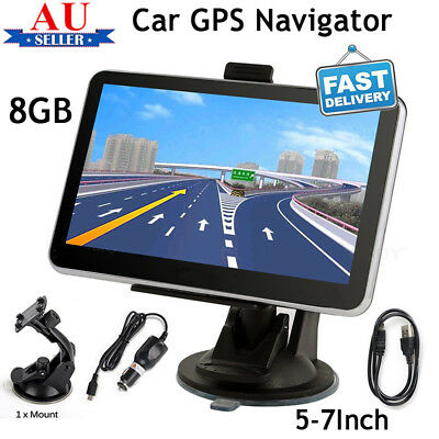 "7"" 5"" Truck Car GPS Navigator 8GB Navigation System Sat Nav Bluetooth Free Maps"