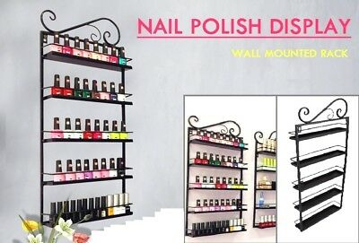 5 Tiers Nail Polish Display Rack Organizer Holder Stand Wall Mounted Hang Shelf