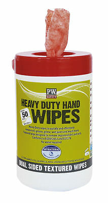 Portwest Heavy Duty Hand Wipes (50 Wipes) Cleaning Supplies Janitorial IW30