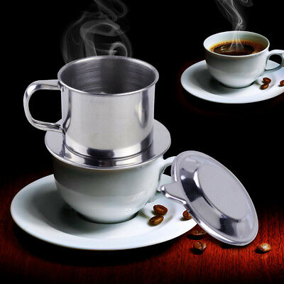1 Vietnam Vietnamese Stainless Steel Coffee Filter Drip Maker Phin Infuser Press