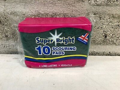Heavy Duty Green Scouring Pads Catering Professional Kitchen Restaurant x 50