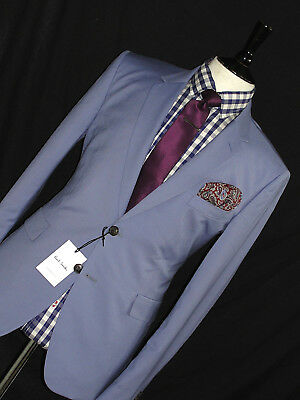Bnwt Mens Paul Smith London The Mainline 2018 Edition Baby Blue Suit 40R W34