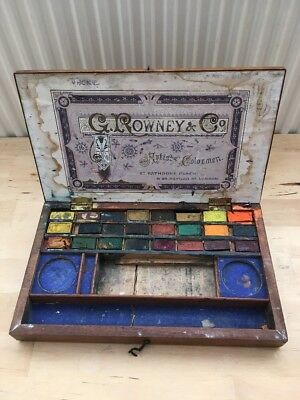Antique Artists Box Rowney And Co