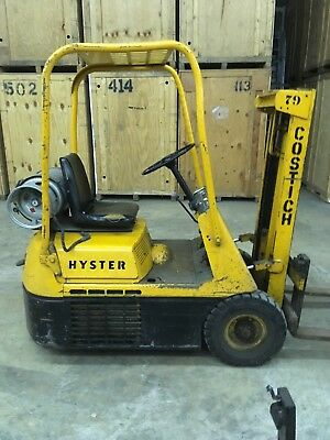 Hyster Forklift 2500 Lb, Three Wheel, Lp Gas, Fork Extensions