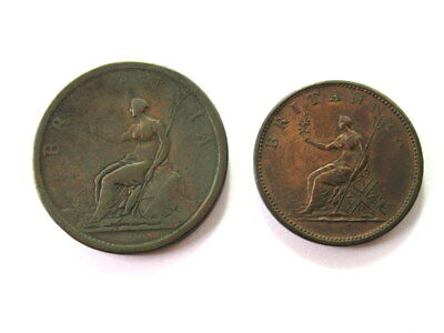 Great Britain Penny 1806 and Half Penny 1806  #CIW