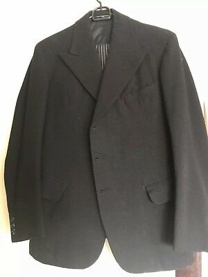 Original Mens 1930/1940s Stroller Suit Two Piece 1939 Dated Small-XSmall