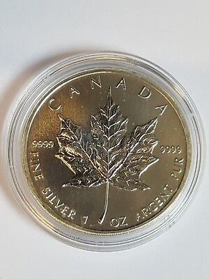 2011 Canada 1 oz Silver Maple Leaf 9999 Fine Silver Coin
