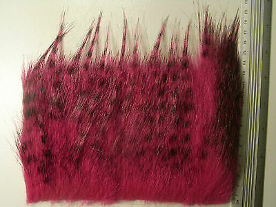 Barred Pink Craft Fur, Fly Tying Material