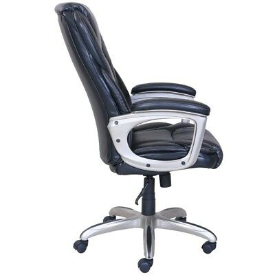 Serta Big And Tall Commercial Office Black Chair With Memory Foam