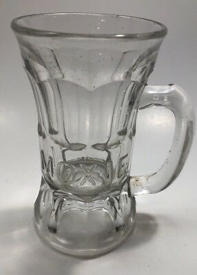 Vintage Soda Glass Moxie Mug Drinking Unique Handled Drink Mug RARE!