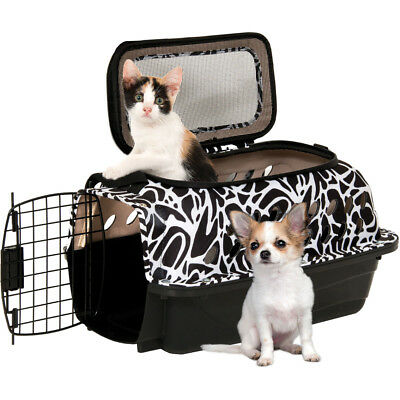 """19"""" PetMate Carry Bag Kennel with Strap for Small Pet Dogs & Cats - Up to 10lbs"""