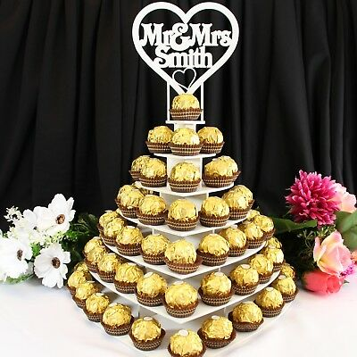 Ferrero Rocher Heart Stand Mr&Mr Wedding Display Centrepiece Party Personalised