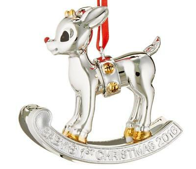 Lenox Rudolph 2016 Baby's First Christmas Rocking Horse Ornament New in Box