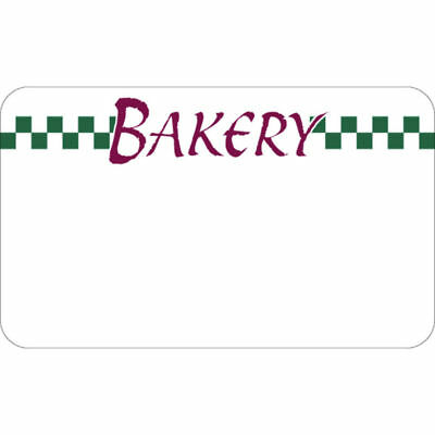 Write On Bakery Tag With Green Checks White Heat Resistant Merchandising Tag - 3