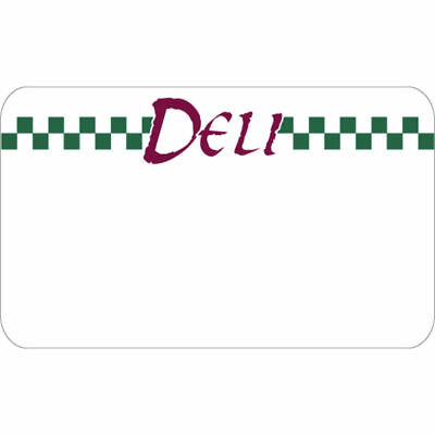 Write On Deli Tag With Green Checks White Heat Resistant Merchandising Tag - 3