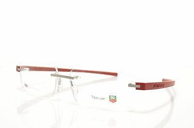 TAG HEUER Reflex 3942 012 Red Rimless New Authentic Eyeglasses 60-15-140